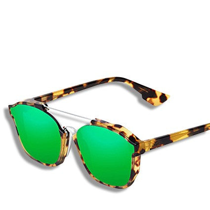 Abstract Mirrored Vintage Sunglasses Green