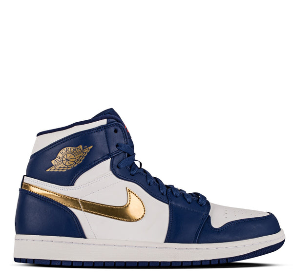 Air Jordan 1 Retro High Deep Royal Blue Metallic Gold Coin White
