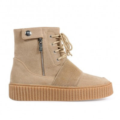 Zipped Hi Top Creepers Nude
