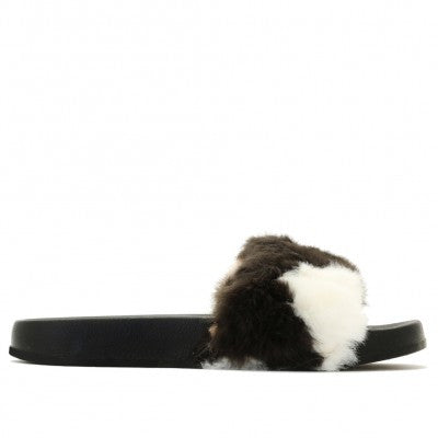 Faux Fur Slides Multicolor