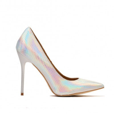 Silver Iridescent Mermaid Pumps