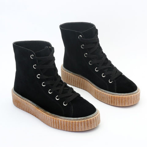 Versus Hi Top Suede Creepers Black
