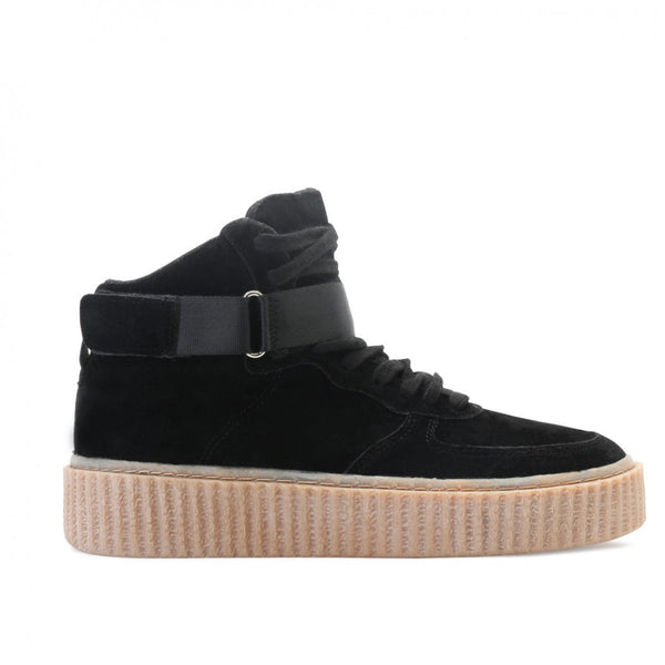 The Suede Hi Top Creepers Black