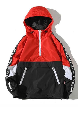 Find and Seek Patchwork Windbreaker