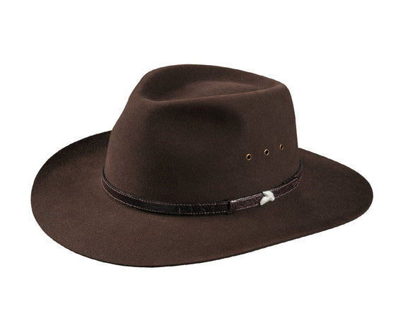 Akubra 'Angler' in Loden Brown