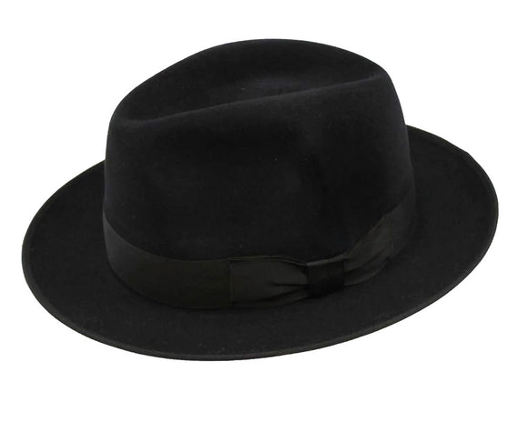 Akubra 'Bogart' Fedora in Black