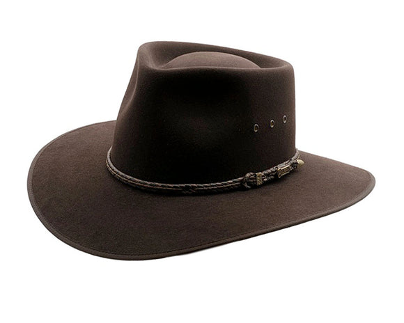 Akubra 'Cattleman' Outback in Tanbark Brown