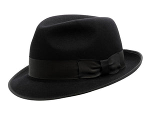 Akubra 'Hampton' Trilby in Black