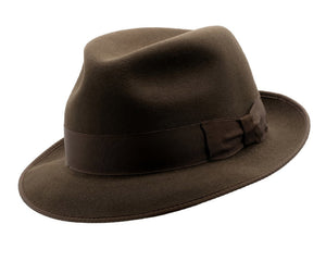Akubra 'Hampton' Trilby in Cedar Brown