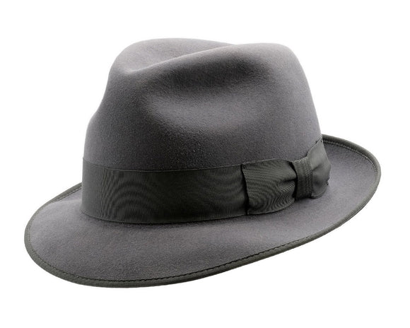 Akubra 'Hampton' Trilby in Carbon Grey