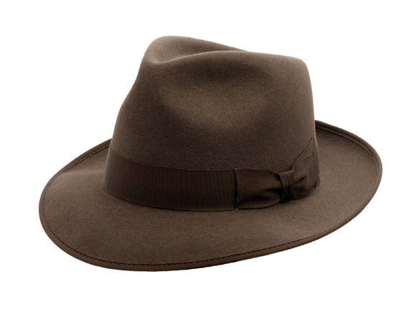 Akubra 'Stylemaster' Fedora in Mid Brown