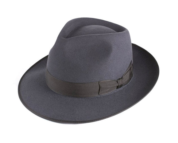 Akubra 'Stylemaster' Fedora in Carbon Grey