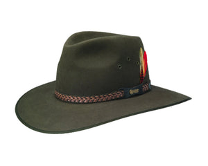 Akubra 'Tablelands' in Brown Olive