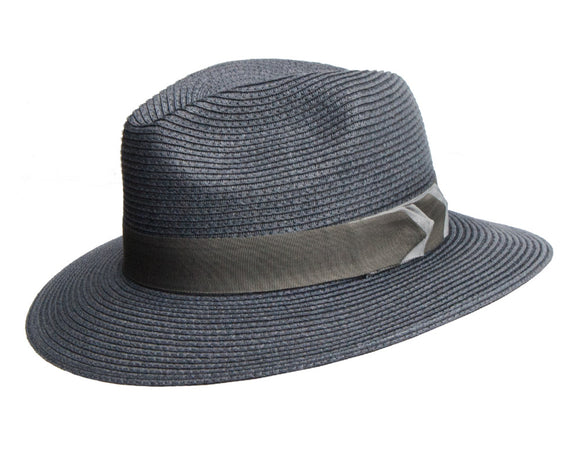 Avenel Navy Blue Large Brim Safari with Arrow Band