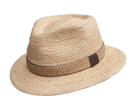 Avenel Raffia Fedora with Hessian Band