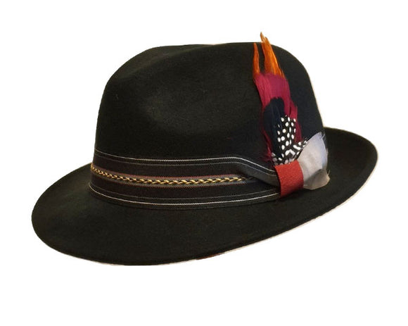 Avenel 'Roberto' Wool Felt Fedora in Black