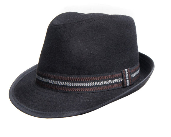 Avenel Wool Blend Trilby in Black