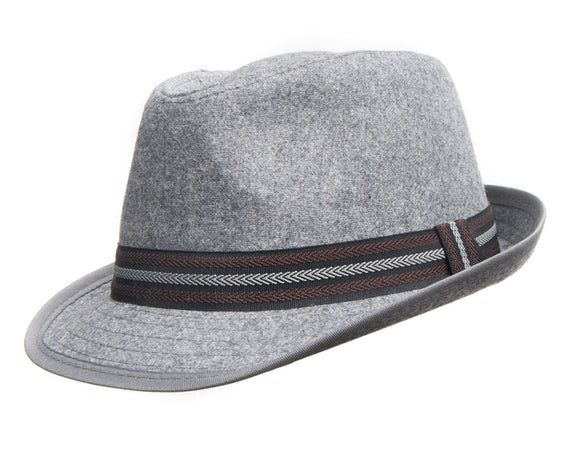 Avenel Wool Blend Trilby in Charcoal Grey