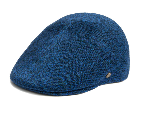 Avenel 'Tropical' Ivy Flat Cap in Blue