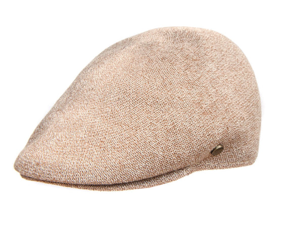 Avenel 'Tropical' Ivy Flat Cap in Tan