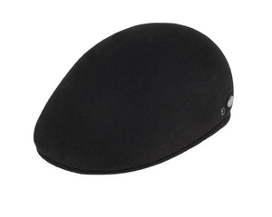Bailey 'Shupp II' Ivy Flat Cap in Black Wool Felt