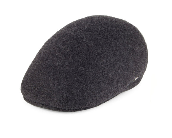 Bailey 'Shupp II' Ivy Flat Cap in Grey Wool Felt