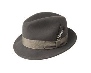 Bailey 'Tino' Wool Felt Trilby in Basalt Grey