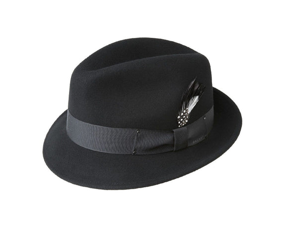 Bailey 'Tino' Wool Felt Trilby in Black