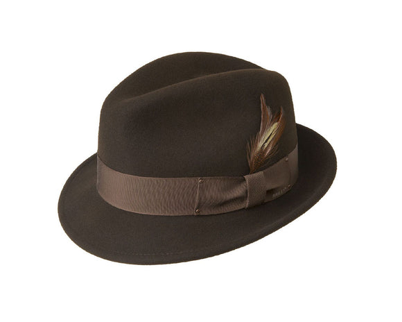 Bailey 'Tino' Wool Felt Trilby in Brown