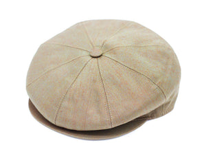 Cappellificio Biellese Baker Boy Cap in Taupe Solaro Cotton