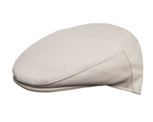 Cappellificio Biellese Ultrafine Merino Flat Cap in Beige