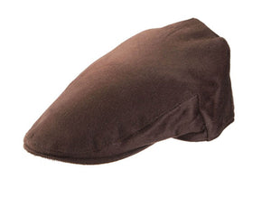 Christys 'Balmoral' Cashmere Flat Cap in Brown