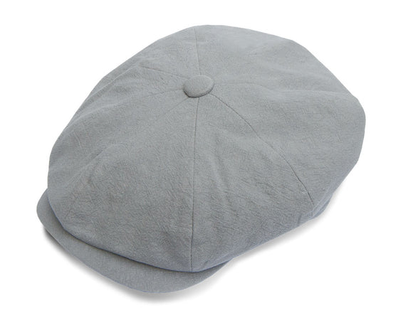 Christys 8 Piece Baker Boy Cap in Grey Linen