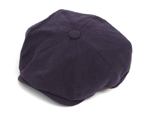 Christys 8 Piece Baker Boy Cap in Navy Linen