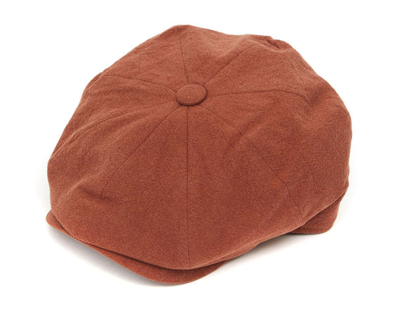 Christys 8 Piece Baker Boy Cap in Tobacco Linen