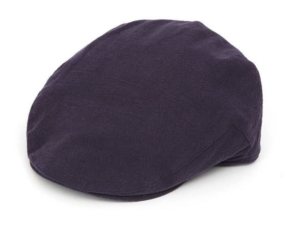 Christys 'Balmoral' Linen Flat Cap in Navy