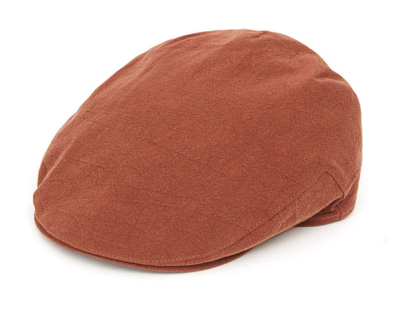 Christys 'Balmoral' Linen Flat Cap in Tobacco