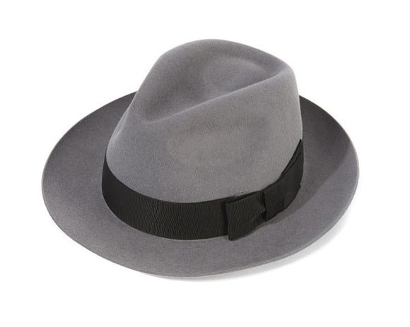 Christys 'Bond' Fur Felt Trilby in Silver Grey