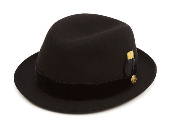 Christys 'Cheltenham' Wool Felt Trilby in Black