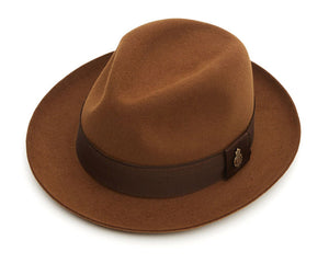 Christys 'Filkins' Fur Felt Trilby in Nut Brown