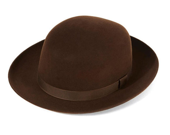 Christys 'Foldaway' Fur Felt Trilby in Sable Brown