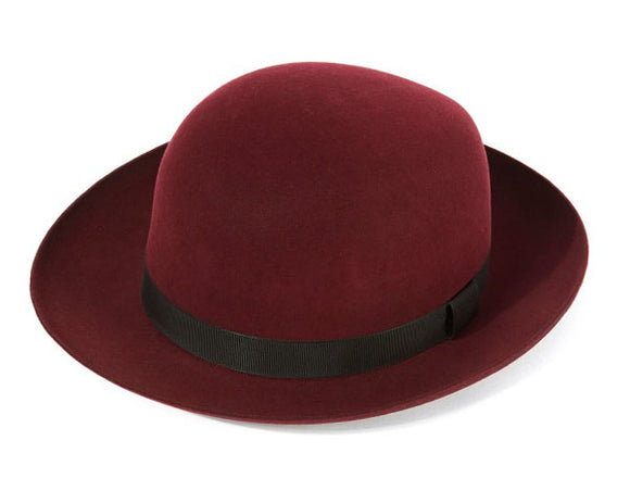 Christys 'Foldaway' Fur Felt Trilby in Red Wine