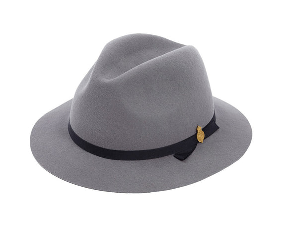 Christys 'Redmayne' Fur Felt Fedora in Silver Grey