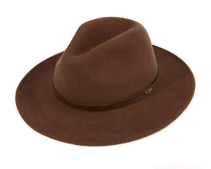 Christys 'Safari' Crushable Wool Felt Fedora in Mid Brown