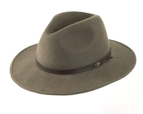 Christys 'Safari' Crushable Wool Felt Fedora in Grey