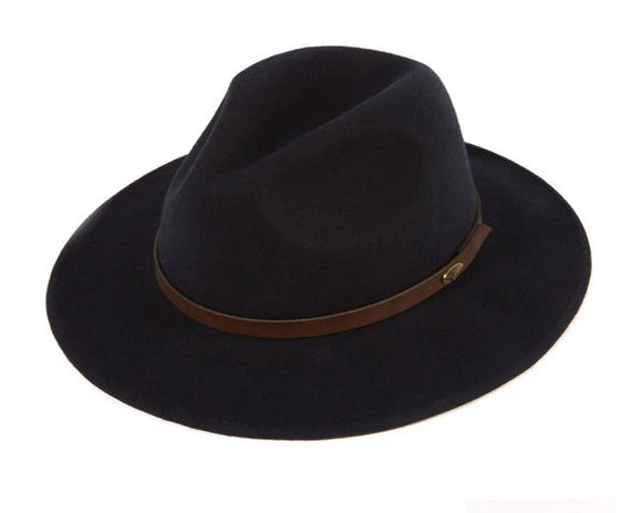 Christys 'Safari' Crushable Wool Felt Fedora in Navy