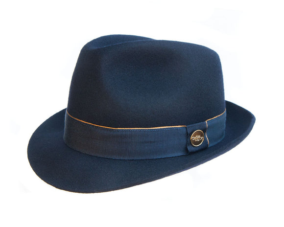 Christys 'Winchester' Wool Felt Trilby in Navy