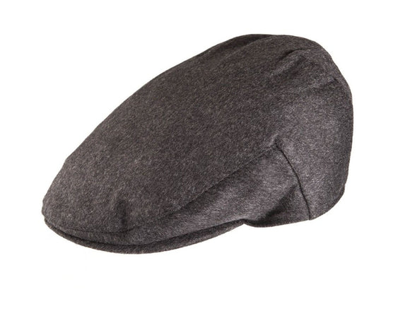 Christys 'Balmoral' Cashmere Flat Cap in Charcoal Grey