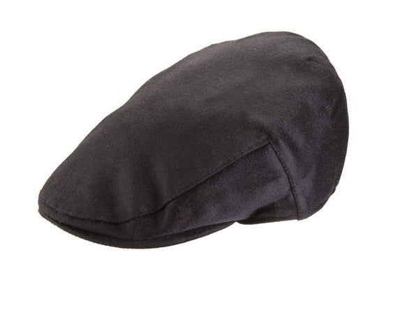 Christys 'Balmoral' Cashmere Flat Cap in Black