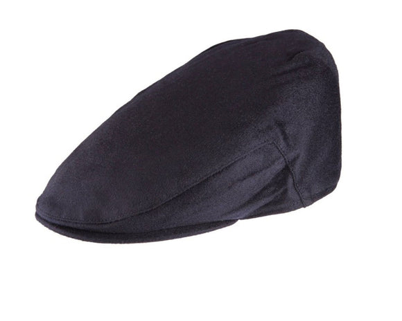 Christys 'Balmoral' Cashmere Flat Cap in Navy
